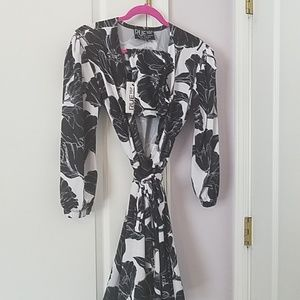 Rue 107 Orchid Print Dress (with Bandeau)
